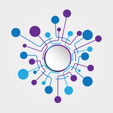 サークル接続ベクトル テンプレート背景を抽象化します。