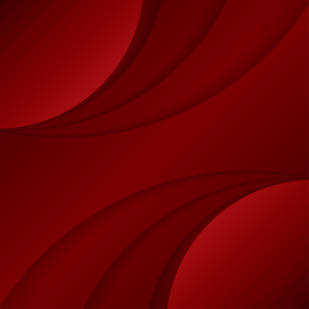 duvet: Abstract wavy Red Background.
