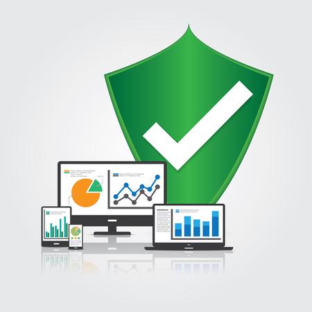 Big Data Security Concept. 矢量图像