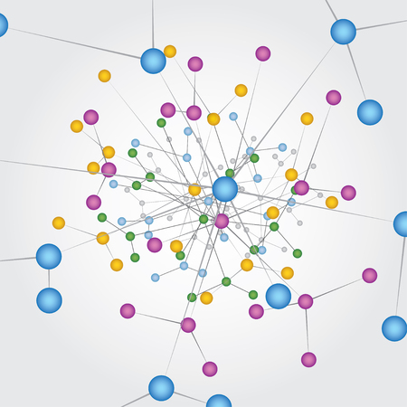 Global Network Connections.Vector illustration