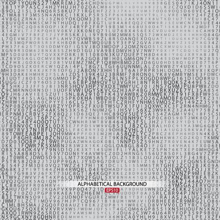 Alphabetical Gray Background.