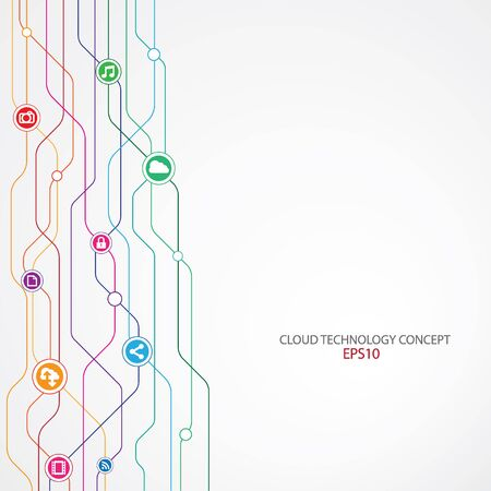 Cloud Technology Connection background. 矢量图像