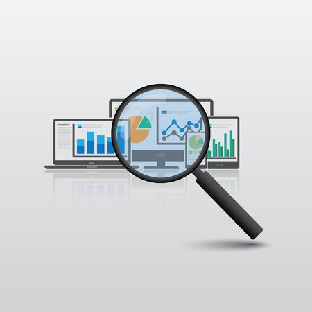 Website analytics and SEO data analysis concept 矢量图像