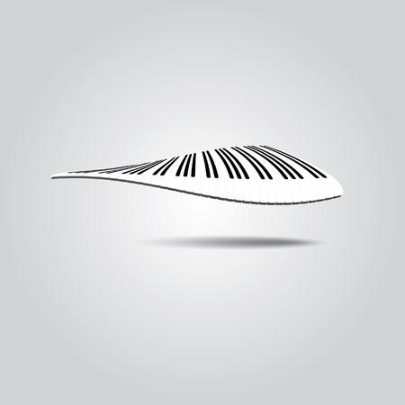Piano Keys in wave. Vector illustration in EPS10.