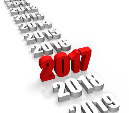 Year 2017 and other years behind and front