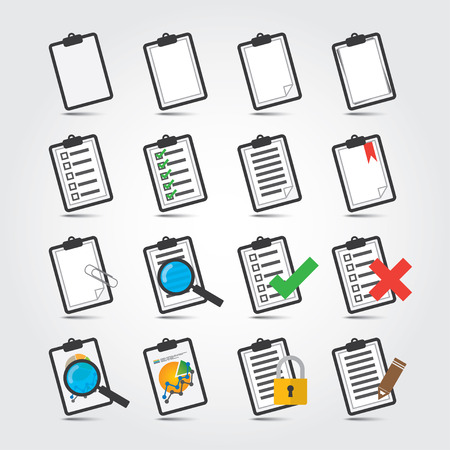 Vector colorful Reports icon set 일러스트