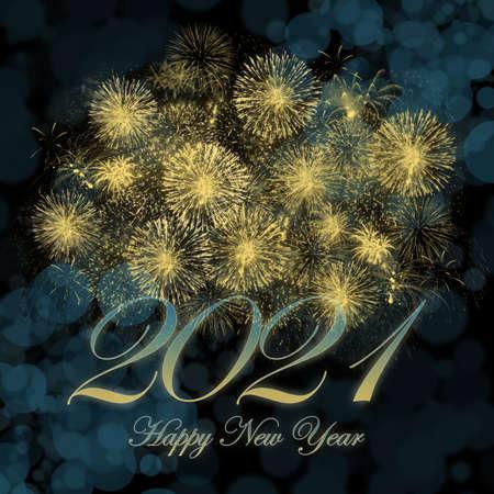 Happy New Year 2021 background image. 免版税图像