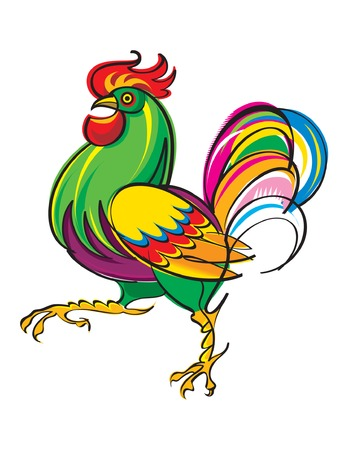 spurs: The vivid and colorful Rooster