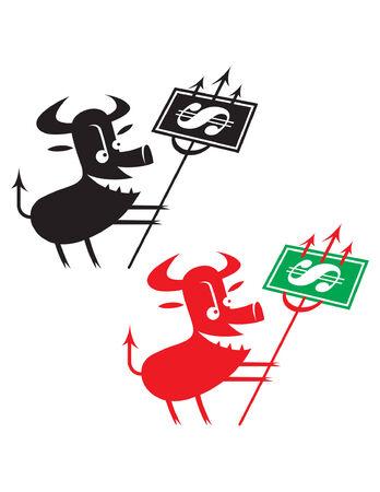 Devil as symbol of global financial crisis