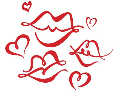 Hearts and Kisses Фото со стока - 6488107