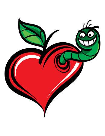 Worm in Heart Stock Vector - 6488191