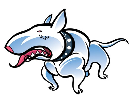 Colorful vector illustration of the dog Bull Terrier Vector