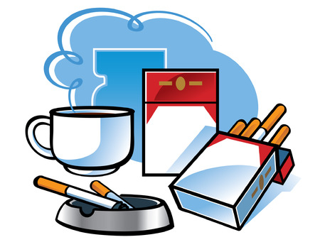 Cigarettes and Coffee  Stock Vector - 6528422
