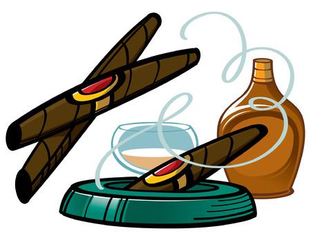 inhalacion: Cigarros y Brandy