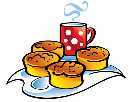 Fresh biscuits and cup of milk Stock Vector - 6528522