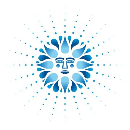 neptun: Poseidon Neptun antiken Mythologie Symbol f�r Gott Meer Illustration
