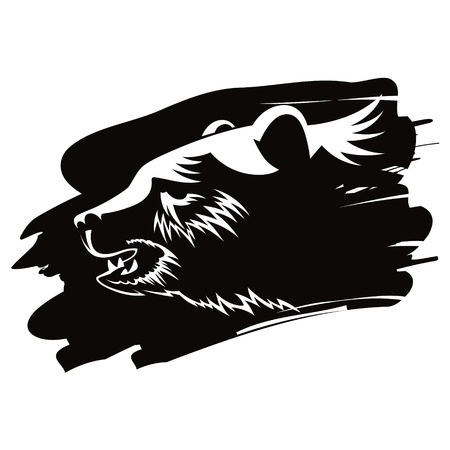 persistence: Bear head animal beast nature vector illustration