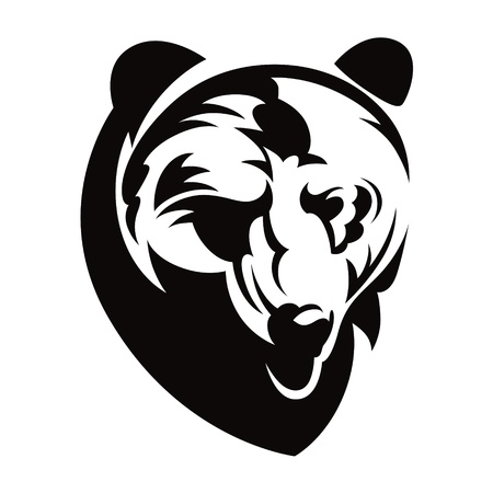 dominate: Bear head animal beast nature vector illustration