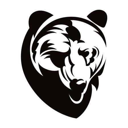 oso negro: Tenga cabeza animal bestia naturaleza ilustraci�n vectorial