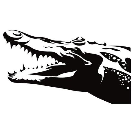 악어: 악어 악어 파충류 야생 동물 자연 일러스트