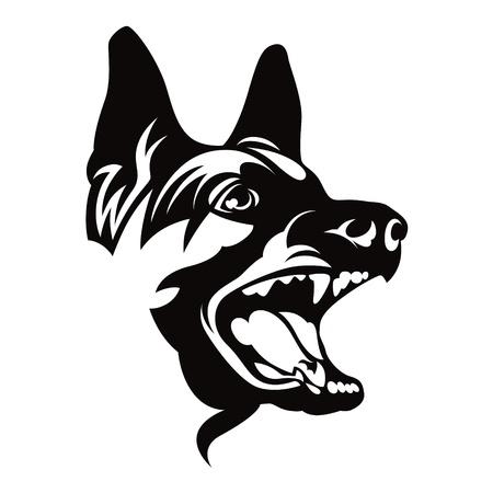 pastorcillo: Perro de pastor alemán animal de compañía Vectores