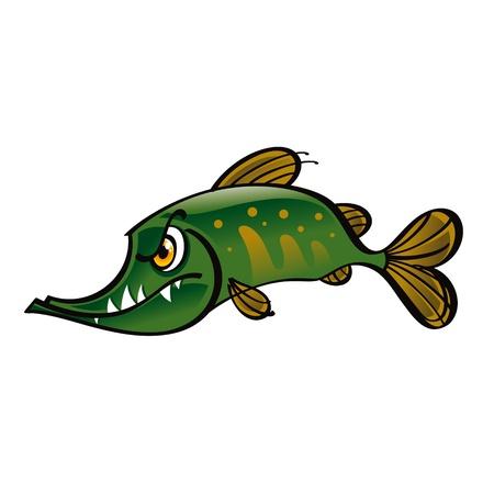 threaten: Pike fish river predator