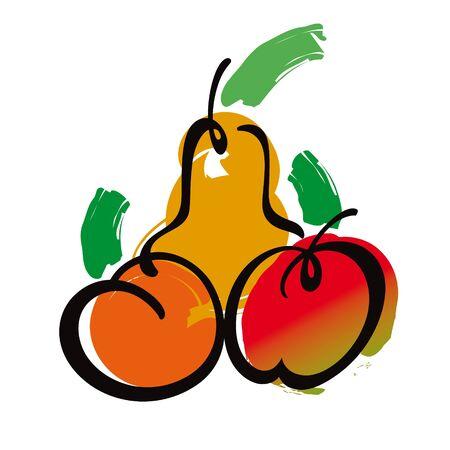 rosy: Fruits pear apple fresh juicy garden harvest food