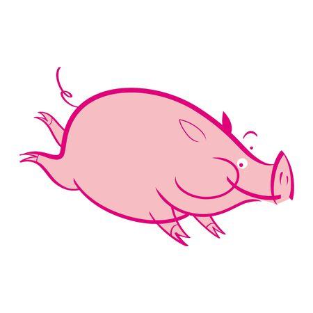 Pink pig pork domestic animal farm pet Stock Vector - 11783118