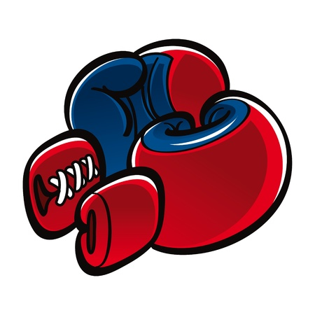 Boxing Gloves sport fight duel conflict Vector