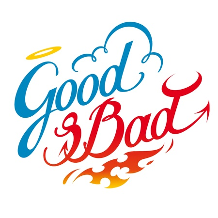 Good and Bad heaven nell god devil Stock Vector - 11783166