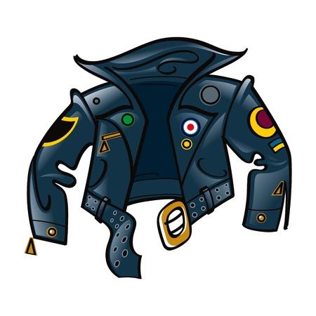 chaqueta de cuero: Chaqueta de cuero para el basculante o motorista