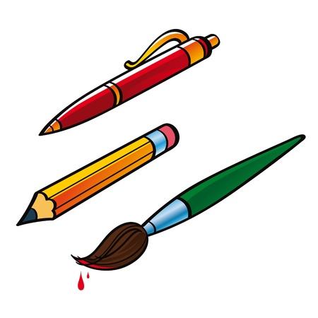 Pen Pencil Brush office Stock Vector - 11783165