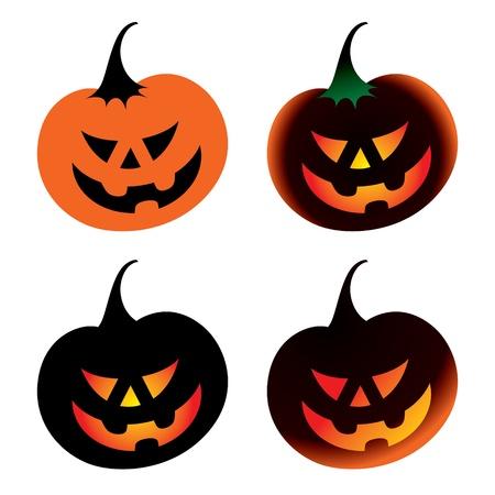 Halloween Pumpkin vegetable horror fear burning Stock Vector - 11783182