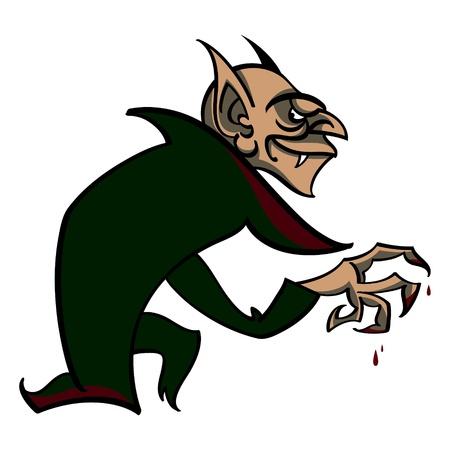 Vampire - Halloween suit horror fear blood sucker Dracula Vector