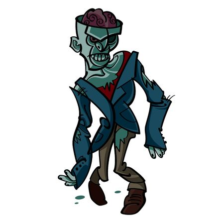 Zombie - Halloween suit evil walking dead brain
