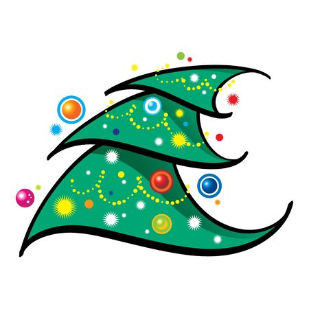 Christmas Tree holiday new year Vector