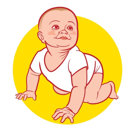 New Born Baby little child Vector