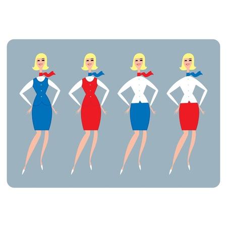 businesswoman skirt: Stewardess or Hostess girl woman beauty fashion