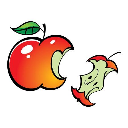 bit: Apple Leftover Bit fruit food Illustration