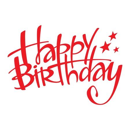 compleanno: Buon compleanno vacanza evento cartolina di congratulazioni Vettoriali
