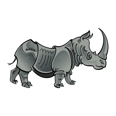 African mammal Rhinoceros wild animal Banco de Imagens - 11852150