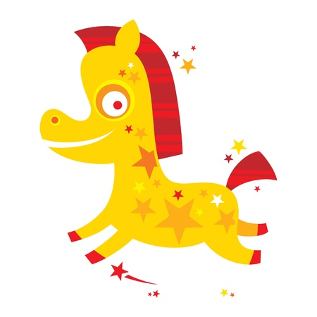 Striped Horse Toy  Vector