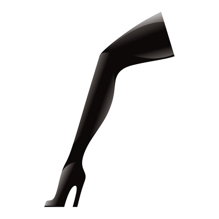 High Heel Boots black shoe foot wear latex leather fashion fetish