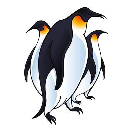 birds in flight: Arctic Penguins bird fauna zoo