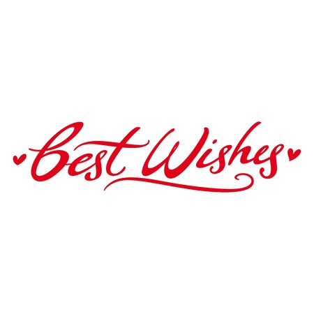 Best Wishes respect love postcard signature Vector