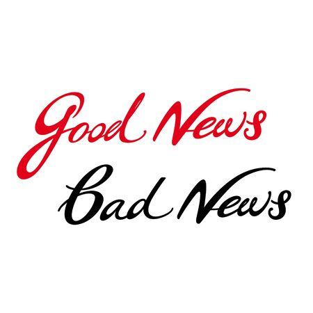 Good News Bad News media television mail letter rumor Stock Vector - 11852312