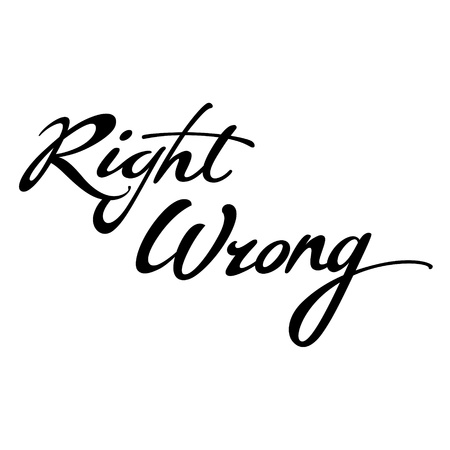 choise: Right Wrong goed slecht keuze beslissing antwoord