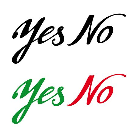 answer approve of: Yes No permission prohibition answer choise decision refuse