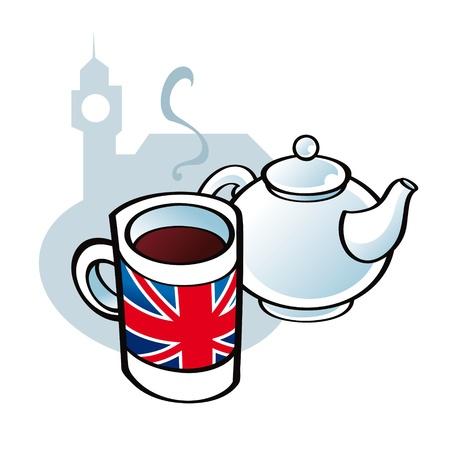 English Tea drink tradition pot Stock Vector - 11852256