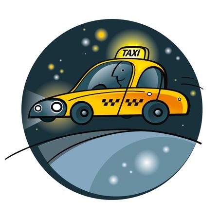 Taxi Yellow Cab coche automático máquina de servicio de transporte del tráfico viaje